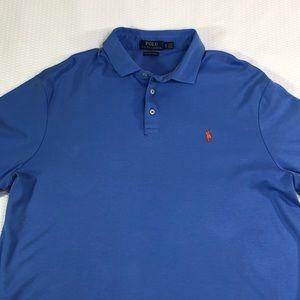 Polo Ralph Lauren Light  Blue Pima Soft Touch Polo